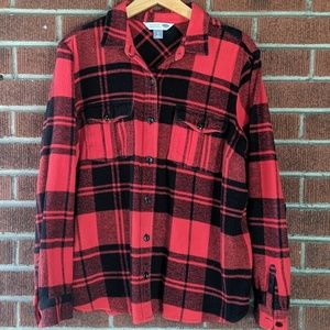 Old Navy Plaid Flannel Button Down